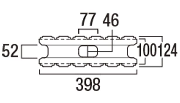 ホールストーン-寸法図-基本形横筋上部