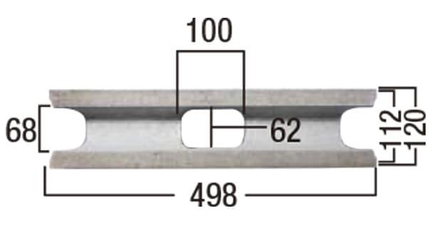 ブリエ-寸法図-基本形横筋上部形状