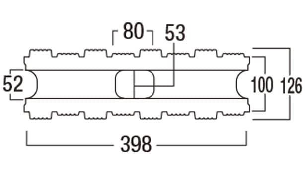 ウルトラメタル-寸法図-基本形横筋上部