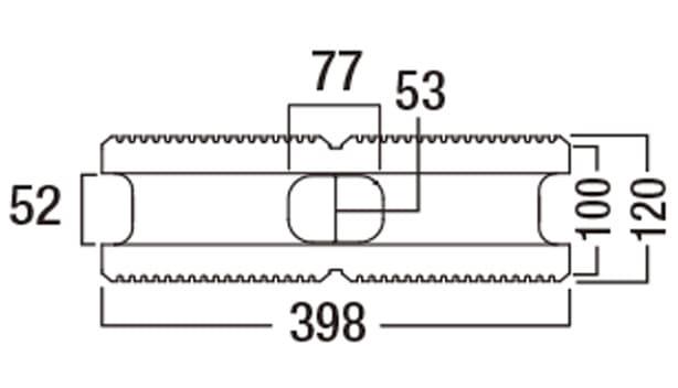 スクエアC-寸法図-基本型横筋上部