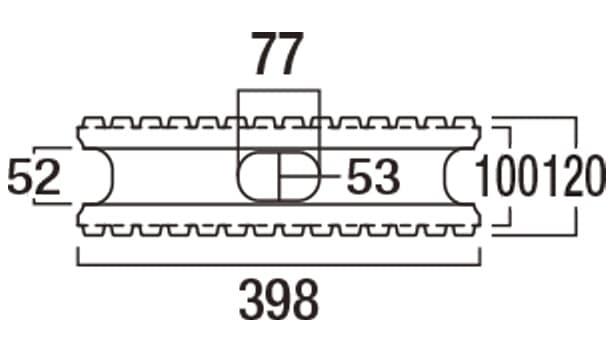 ロジック-寸法図-基本型横筋上部