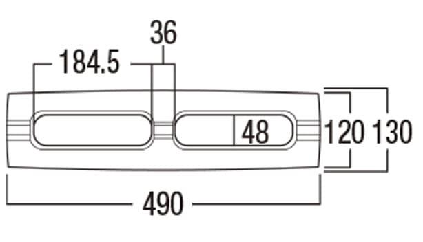 ベスロック-寸法図-基本形横筋上部