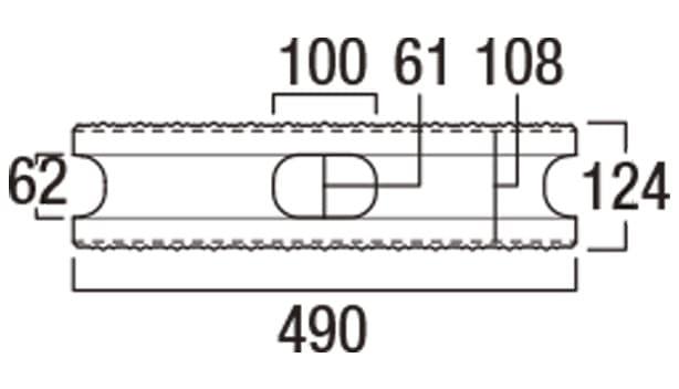 ニューライン500-寸法図-基本形横筋上部