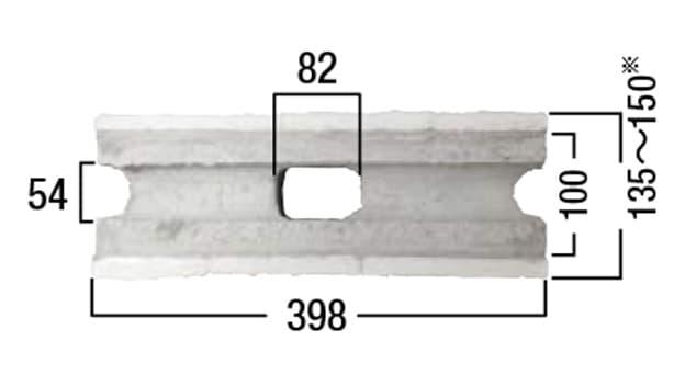 コルジェボーダー-寸法図-基本形横筋上部形状