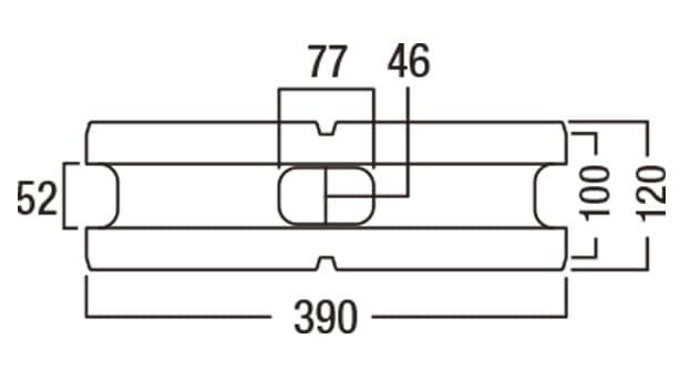 デュエット-寸法図-基本形横筋上部形状