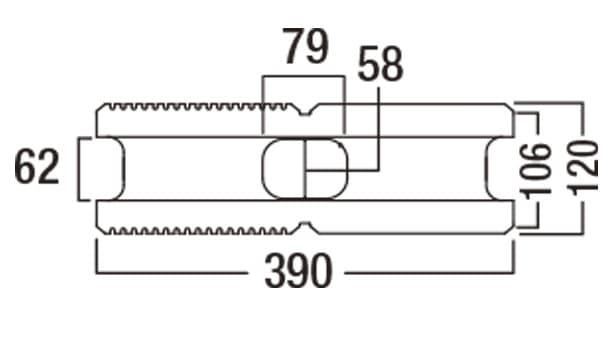 デュアル-寸法図-基本形横筋上部形状
