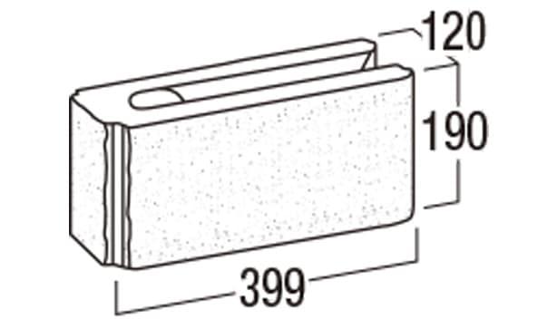 リブロックRX-寸法図-1Wコーナー