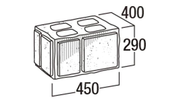 大谷900-寸法図-45和門柱・45ワMN