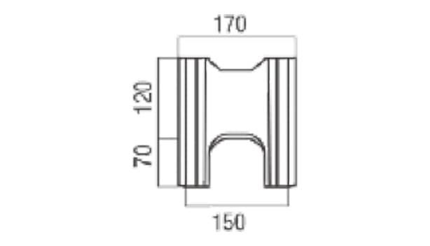 スマート型枠-寸法図-基本側面形状