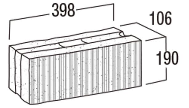 スーパーC種-寸法図-106基本形横筋