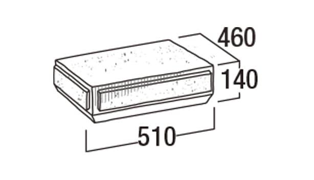 こたたき900-寸法図-45和門笠