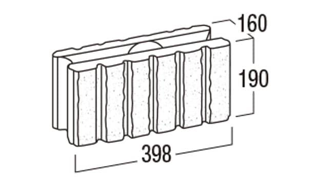REリブ6RB-寸法図-基本形横筋