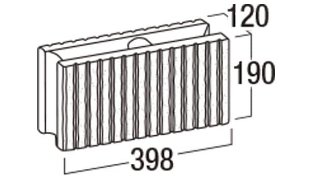 スレンダーリブ-寸法図-基本形横筋