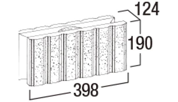 エスビー・ステアリブ-寸法図-基本形横筋