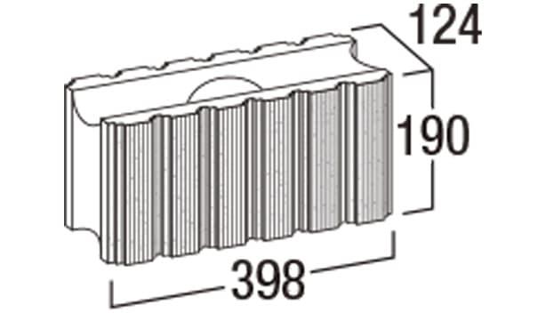 ホールストーン-寸法図-基本形横筋