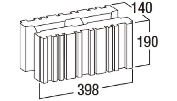 バイオメタル-寸法図-基本形横筋