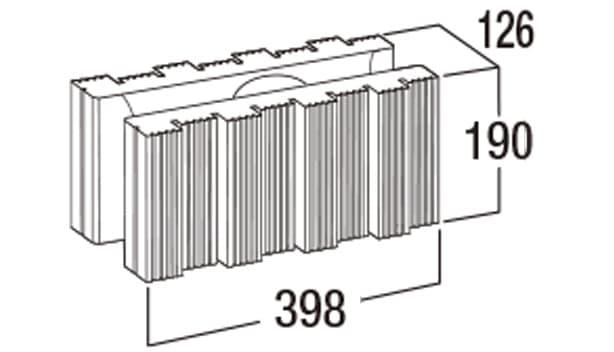 ウルトラメタル-寸法図-基本形横筋
