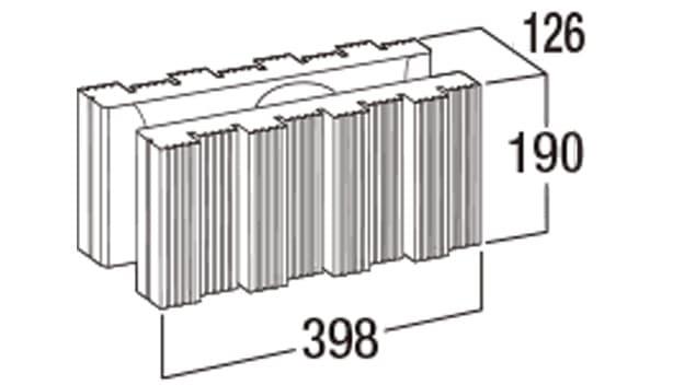 ウルトラC-寸法図-126基本形横筋