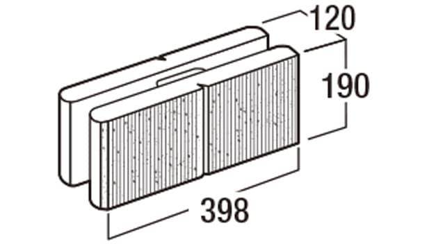 スクエアC-寸法図-基本型横筋