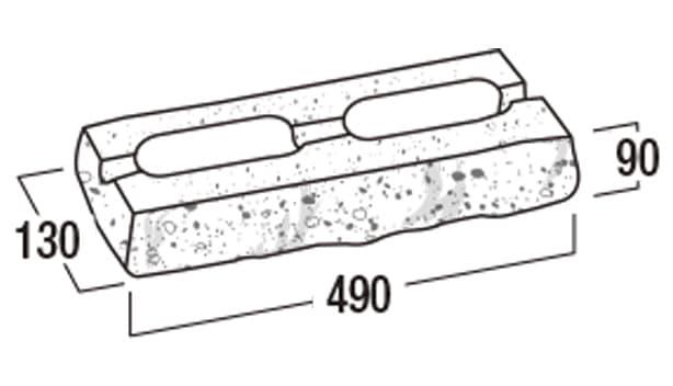 ベスロック-寸法図-基本形横筋