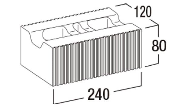BBブリック-寸法図-基本形横筋