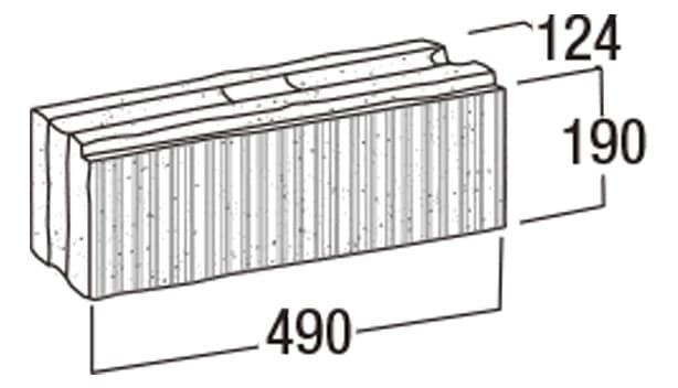ニューライン500-寸法図-基本形横筋