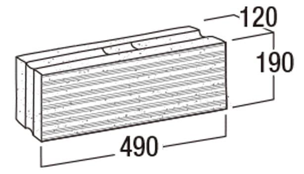 本みかげ500-寸法図-基本形横筋・503