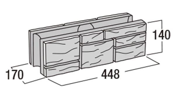 ラスティック450-寸法図-基本形横筋
