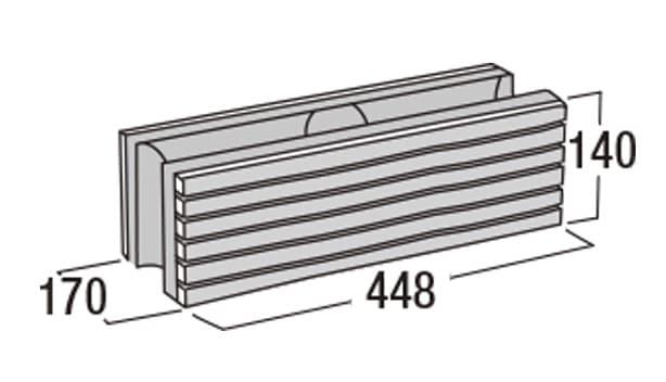 ボーダー450-寸法図-基本形横筋