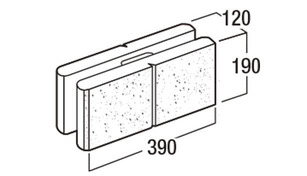 デュエット-寸法図-基本形横筋