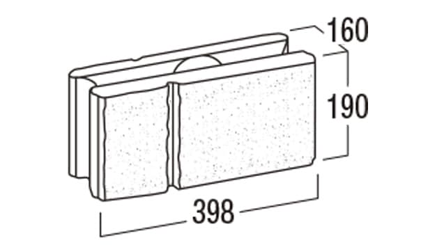 REリブ2SP-寸法図-基本形横筋