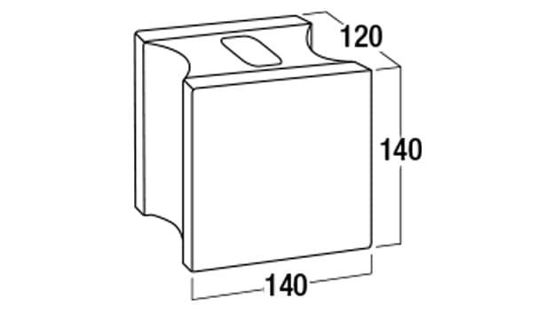 ブリエコロン-寸法図-基本形横筋