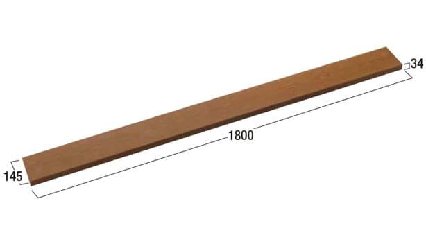 ハイブリッド笠木-寸法図-1800