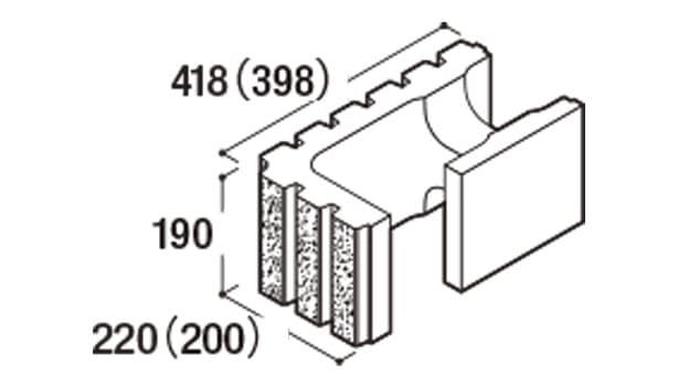 RECOM 6RB-寸法図-200コーナー隅角部用