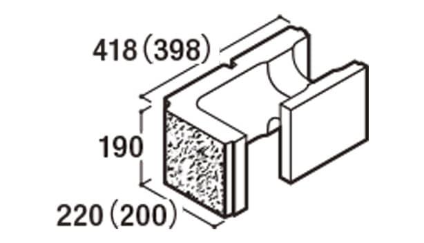 RECOM 2SP-寸法図-200コーナー隅角部用