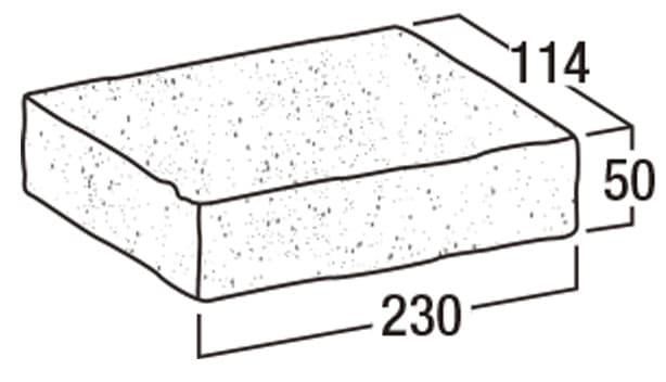 ロイヤルパイン・ペイバー-寸法図-フラット