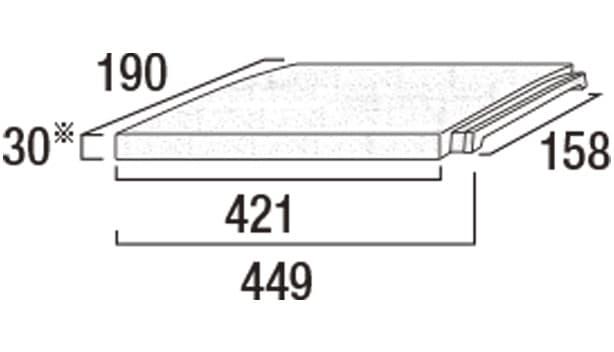プライムキャップ-寸法図-190コーナーA