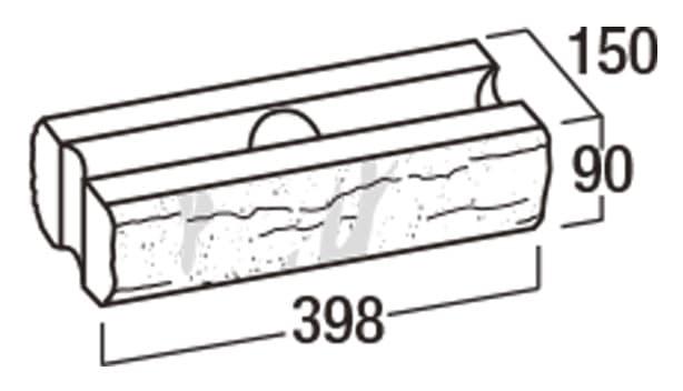 ピッチフェイス100/200-寸法図-100基本形横筋