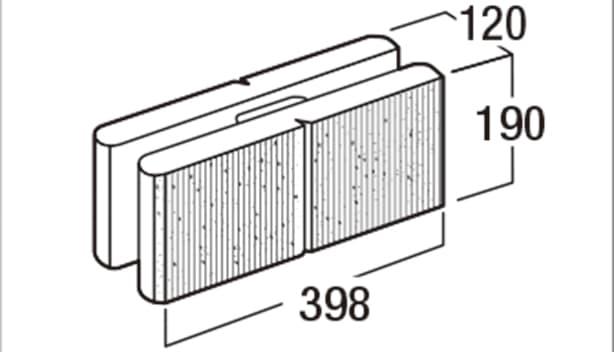 スクエアC-寸法図-120基本形横筋