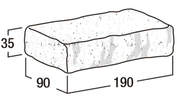 ポータリー・ペイバー-寸法図-形状寸法図