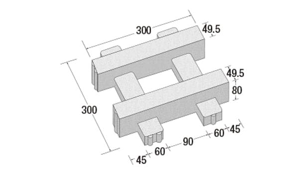 リビオ[ai]緑化80-寸法図-形状寸法図