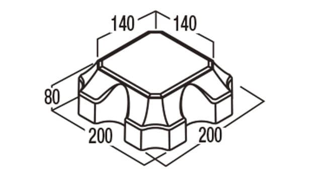 オールラウンドペイブ・グラスハーフ-寸法図-228