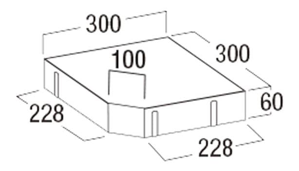 オールラウンドペイブ・オリジナル-寸法図-336C(隅切)