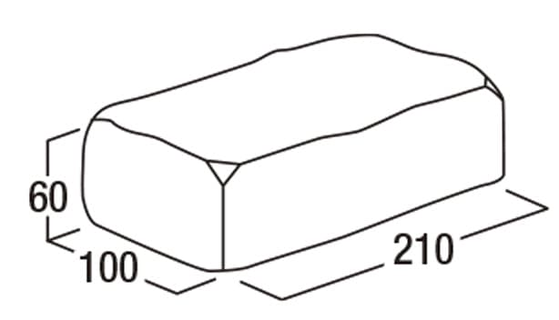ソイルレンガ-寸法図-形状寸法図