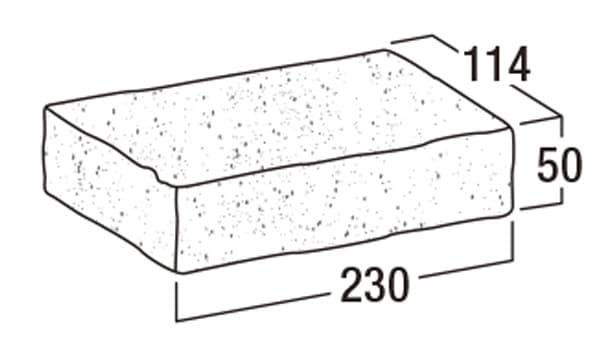 ショコラ・ペイバー-寸法図-形状寸法図