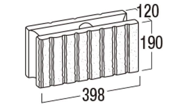 リブロックF-寸法図-8S基本形横筋