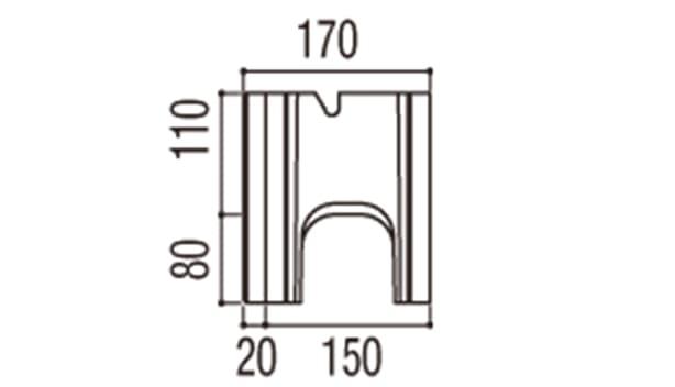 RECOM 6RB-寸法図-150基本側面