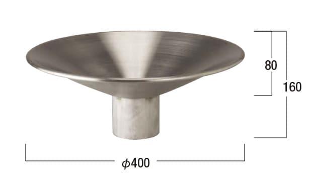 オアシスシリーズ/ポールタイプ/ステンレスパン-寸法図-ステンレスパン