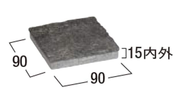 桂林 方形-寸法図-1・1