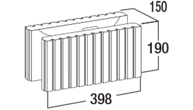 スマートC-寸法図-150基本形横筋